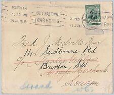 52018 - TRINIDAD & TOBAGO - POSTAL HISTORY: WAR TAX stamps COVER to ENGLAND 1918