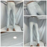 Lululemon Capri Yoga Stretch Pants Sz 4 Gray Poly Cotton Zip Ankle YGI F0-502