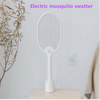 Electric Fly Insect Swatter Handheld Bug Mosquito Wasp Zapper Killer With Light
