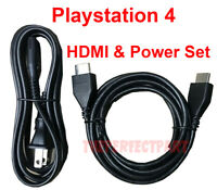 Original Power Cord HDMI Cable Hook Up Connection Set For Sony PS4 PlayStation 4