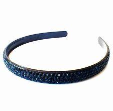 USA Handmade Headband Rhinestone Crystal Hairband Hairpin Bling Blue B05