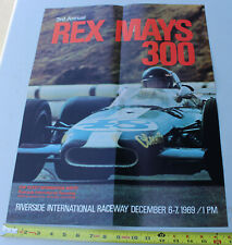 Vintage 1969 3rd Annual Rex Mays Riverside International Formula 1 F1 Car Race