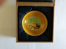 19th Century Chinese San Cai (Three Color) Dish in Fitted Box