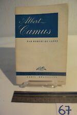 C67 Livre - Albert Camus - Paris Bruxelles