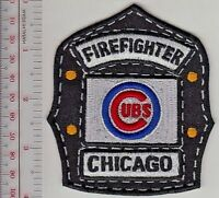Chicago Fire Department & Chicago Cubs Baseball Helmet Shield Promo Patch