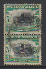 South Africa - 1930, 5s - Perf 14 x 13 1/2 - Vertical Pair - Used - SG 38a