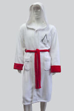 Adult Assassins Creed White Hooded Soft Fleece Bathrobe Dressing Gown