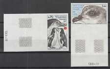 U4323/ FRENCH ANTARCTIC – BIRDS - MAURY # 82 / 83 MINT MNH IMPERF