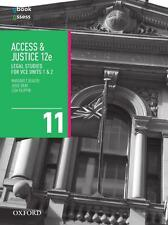 NEW Access and Justice VCE Legal Studies Units 1 & 2  By Margaret Beazer