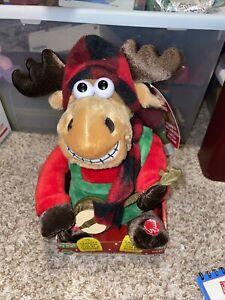 Dr. Elmo Grandma got run over by a reindeer Singing Moose Plush DanDee Lights Up