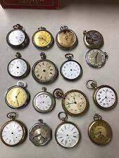 LOT of (16) Old Vintage POCKET WATCHES  For Parts Some Silver And Gold Filled