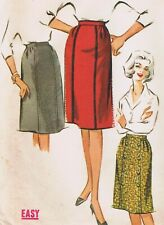 Uncut 1962 McCalls Pattern 6438 Straight Skirt 32 Waist 42 Hip FF Easy Sew