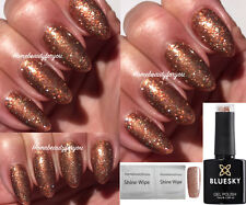 BLUESKY 80544 TINSEL TOAST BRONZE COPPER GOLD NAIL GEL POLISH LED UV SOAK OFF