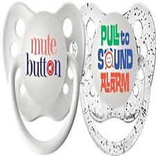 Ulubulu Expression Pacifier Set Unisex Mute Button & Pull To Sound Alarm 0-6 Mon