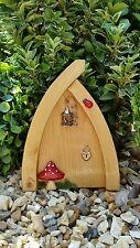 Hand Made Fairy door Hobbit/Elf Doors for Fairy garden light wood bird cage