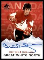 2019-20 UD SP 2017-18 Update Great White North Signatures Auto #GWN-BO Bobby Orr
