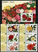 Jersey 2010 Rosen Roses Blumen Flowers Blüten Blossoms 1494-1499 + Block 87 MNH
