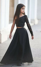 Newest Black Flower Girl Dresses for Birthday Prom Wedding Pageant Brides Party