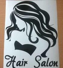 """12"""" hairdressers hair salon shop window door sign beauty vinyl sticker wall art"""