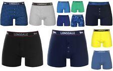 2x Lonsdale Mens Underwear Boxer Shorts Size S M L XL 2XL 3XL 4XL MULTI COLOURS