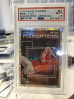 """2018 DONRUSS #F4 MIKE TROUT """"FOUNDATIONS - CRYSTALS"""", ANGELS, PSA 9 MINT"""