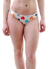 Femme Wildfox vintage coeurs petit bas de bikini multi rrp £ 55