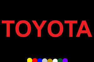 "TOYOTA Decal Vinyl Sticker 16"" TRD Corolla Camry Tundra Celica Tundra Tacoma 4x4"