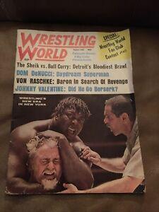 Vintage August 1968 Wrestling World Magazine