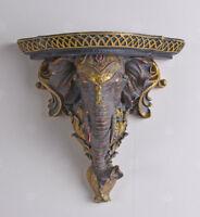 Wandkonsole Elefantenkpf Elefant Konsole Hängekonsole Wandablage Tierkopf Antik