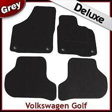 VW Golf Mk5 2003-2008 Oval Eyelets Tailored LUXURY 1300g Carpet Car Mats GREY