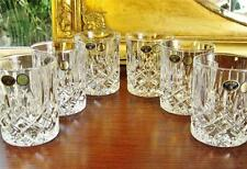 "Set of 6 Bohemia Crystal ""ANTIQUE"" water / Whiskey tumblers, large. NEW"