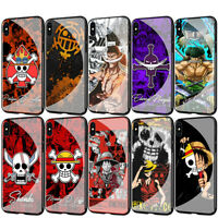 Anime One Piece Glass TPU Case for iPhone 11 Pro XS Max X XR 8 7 6 6S Plus