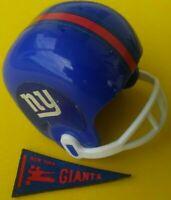 1967 NFL New York GIANTS Vintage mini gumball football helmet Tudor PENNANT AFL