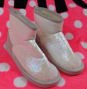 Victoria's Secret PINK Mukluk Boots Slippers Iridescent Medium 7-8 NEW