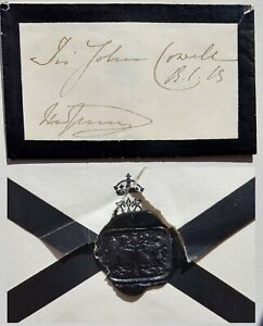 Scare Queen Victoria Autograph Hand Signed Envelope Wax Seal Royalty Signature