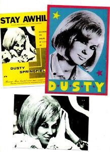 DUSTY SPRINGFIELD. 3 REPRO  POSTCARDS. 60's pop.