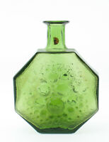 Riihimäen Lasi Oy Nanny Still Glas Flasche Vase Stella Polaris grün Mid Century