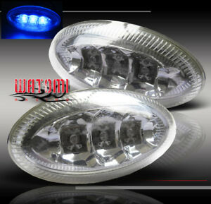 UNIVERSAL FENDER LED OVAL SIDE MARKER LIGHTS LAMPGALANT G3 G5 SUNFIRE WAVE NEON