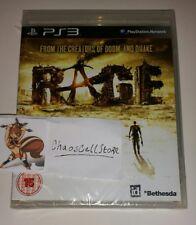 Rage shoooter PS3 Nuevo Sellado PAL Reino Unido Sony PlayStation 3 bethsda Mad Max inspirado