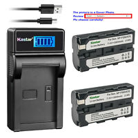 Kastar Battery Charger for Sony NP-F330 NP-F550 NP-F570 LED Vedio Light V-Mount