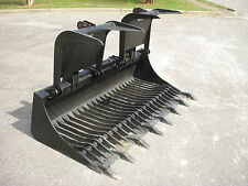 "Bobcat Skid Steer Attachment - 80"" Rock Bucket Grapple with Teeth - Ship $149"
