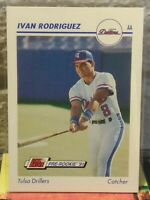 "IVAN ""PUDGE"" RODRIGUEZ HOF TULSA DRILLERS 1991 LINE DRIVE PRE-ROOKIE CARD SP HOT"