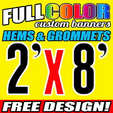 Personalised Outdoor Vinyl Banner Sign - 610 MM x 2438 MM- Custom Made
