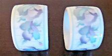 Vintage Sabrina Andre Richard Co. Porcelain Floral Napkin Rings x2 Japan