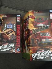 Transformers Kingdom War For Cybertron Huffer INFERNO Lot 2 Trilogy Takara Tomy