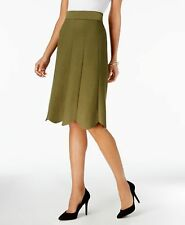 990685be14 Olivia Grace Scalloped Pull-on Skirt Winter Moss M