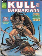 KULL AND THE BARBARIANS #1-#3 SET (FN) 1970'S MARVEL MAGAZINE