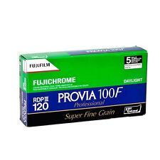 5x Fuji Provia 100F 120 Prof. (Dia) Rollfilm (RDP III)