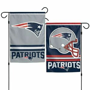 New England Patriots Polyester 12x18 2 SIDED Garden Yard Wall Flag Banner USA