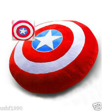 The Avengers Captain America shield throw pillow Cushion Plush Kids Toy Decor